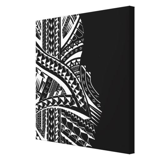 Modern Tribal Canvas Art In Samoan Style Zazzle Com In 2021 Polynesian Art Marquesan Tattoos Maori Tattoo