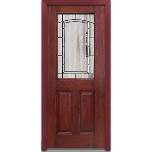 National Door Company Efm684sol28lwch Prehung Left Hand Inswing Entry Door Solstice Decorative Glass 1 Mahogany Exterior Doors Majestic Elegance Glass Decor