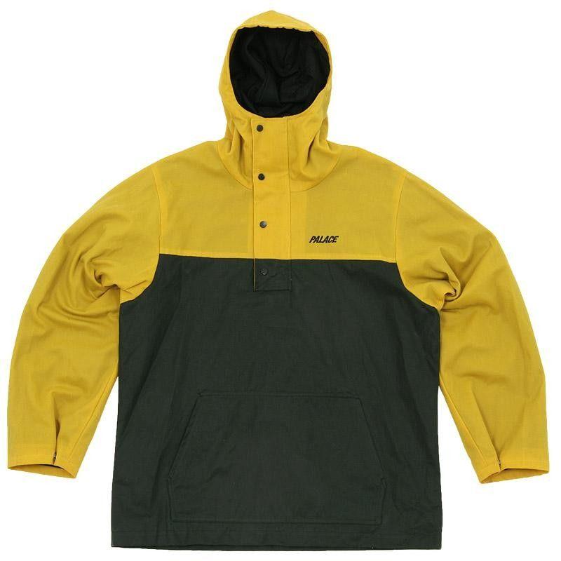 3c333d23d Palace Cut & Sew Shower Jacket (Yellow & Green)   Stuff   Jackets ...