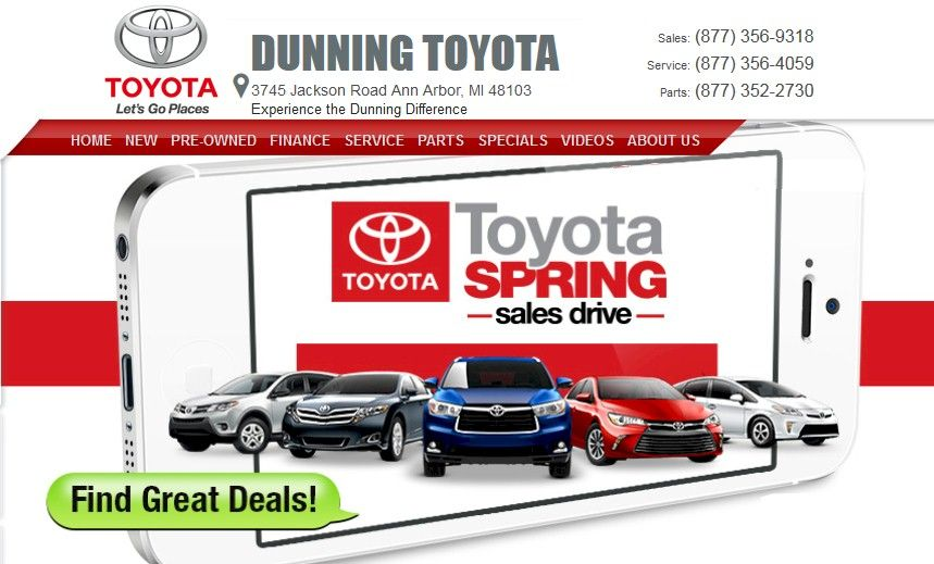 Nice Based In Ann Arbor, Dunning Toyota Offers Servicing, Financing, And New And  Pre Owned Vehicles. Www.dunningtoyota.com/ 734 997 7600