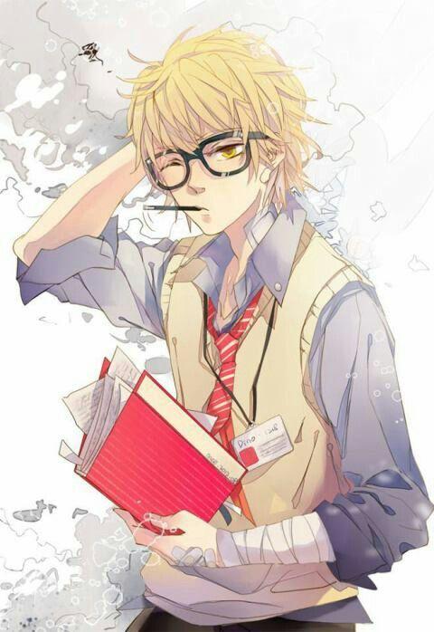 Dino Khr Fanart Anime Glasses Boy Anime Reborn Katekyo Hitman