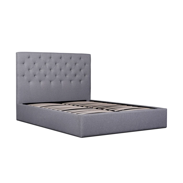 Candace Fabric King Bed Frame Lunar Grey in 2020 (With