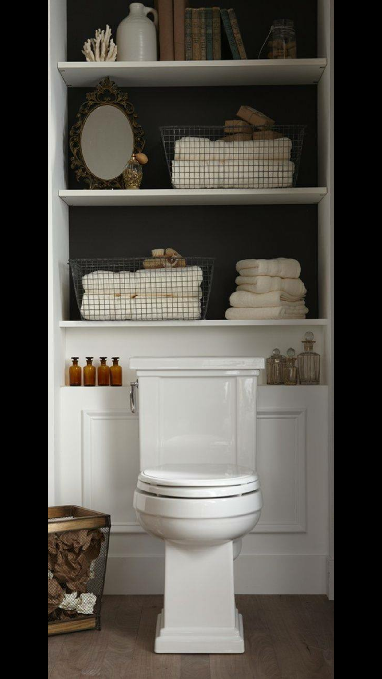 pin by maureen detweiler on bathrooms in 2019 shelves behind rh pinterest com