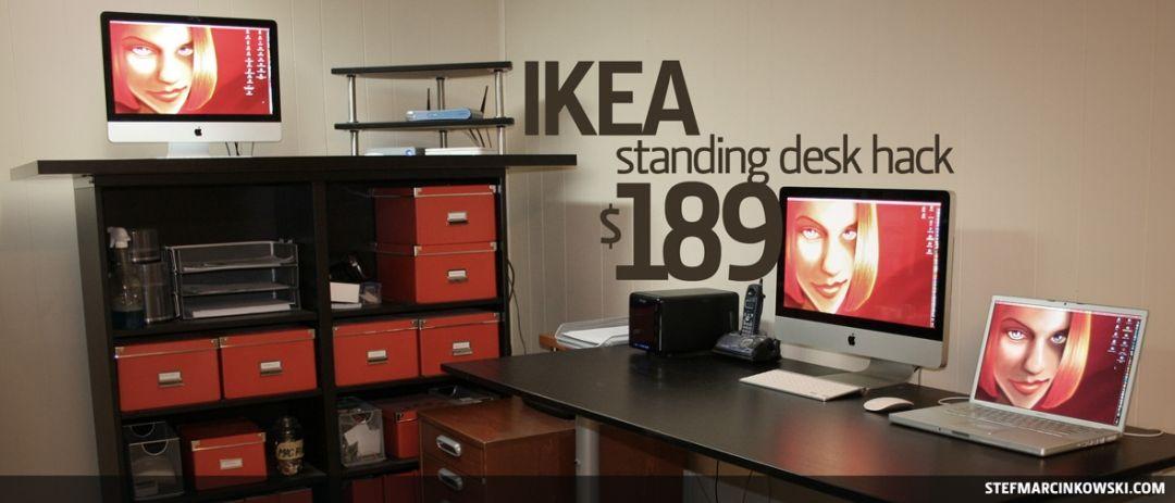 ikea standing desk hack office desk hacks ikea standing desk desk rh pinterest com