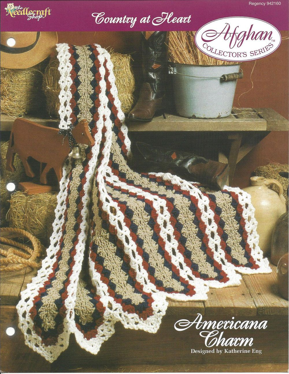 Americana Charm Afghan Collector's Series by KnitKnacksCreations