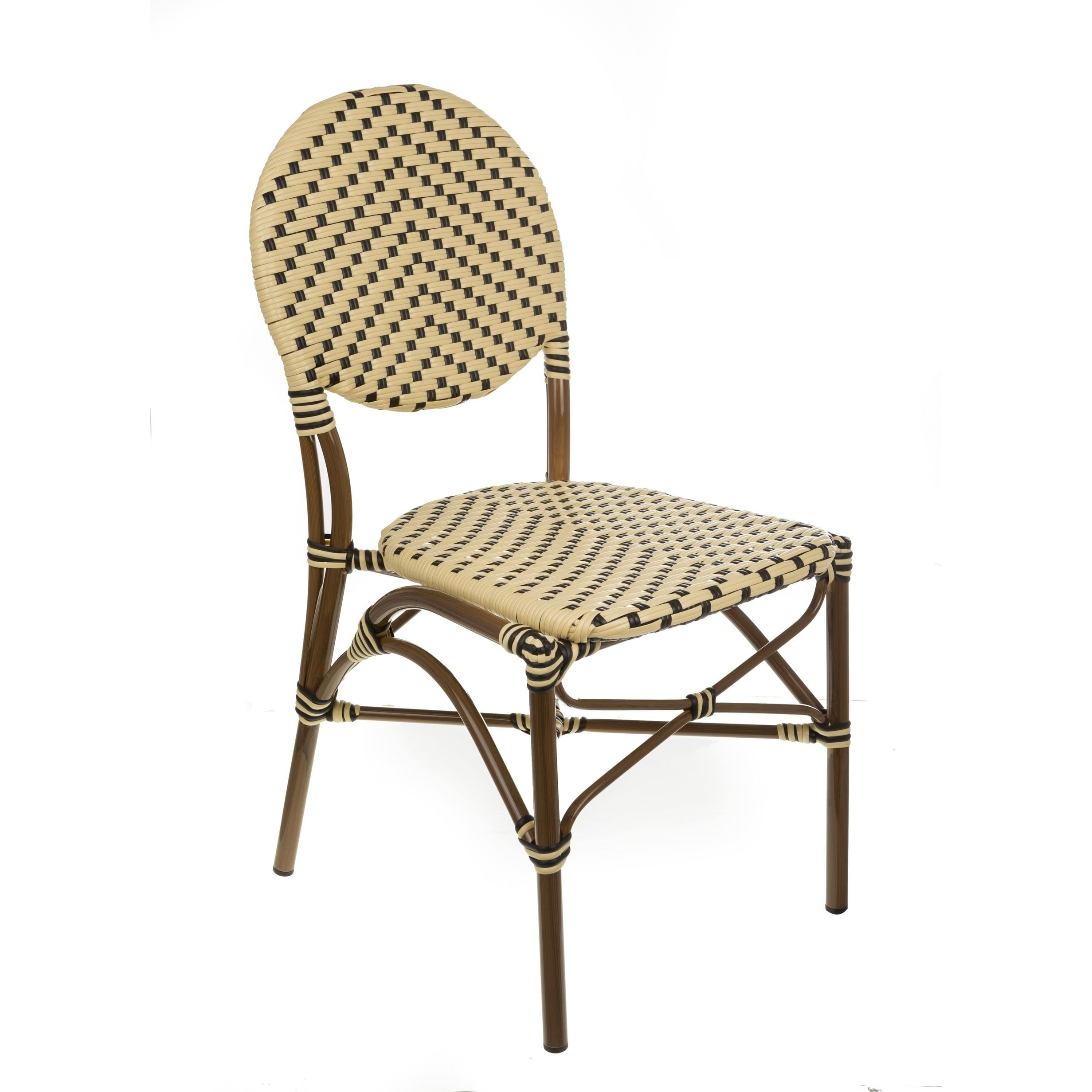 aspen caf bistro indoor outdoor rattan dining chair multi patio rh pinterest com mx