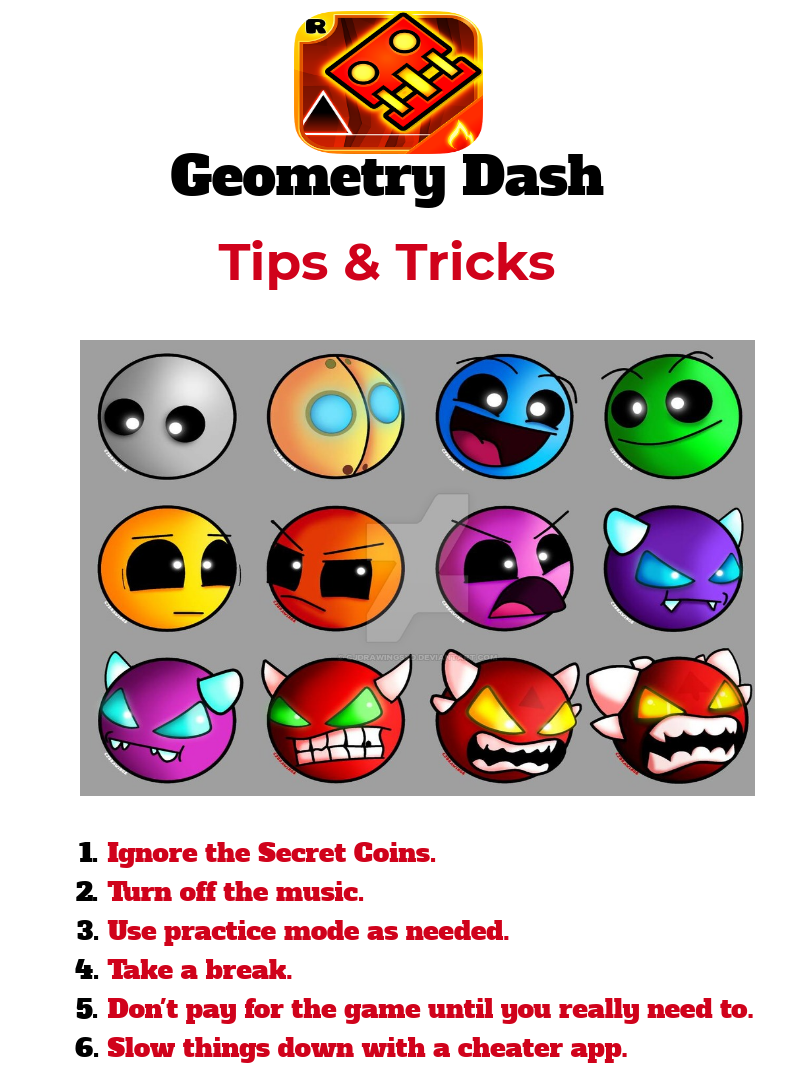 Geometry Dash Guide And Cheats Geometry, Dash, Basic