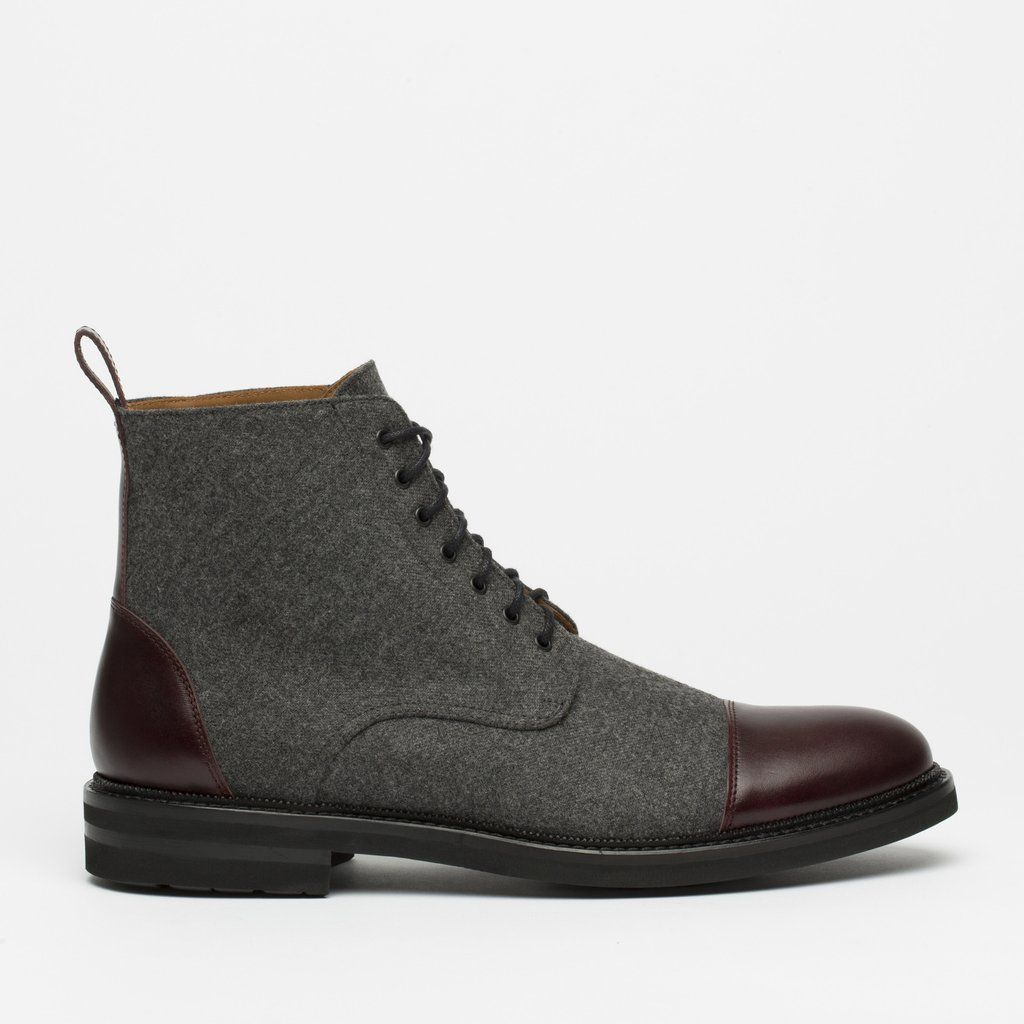 the jack boot in grey/oxblood | chaussure et mode