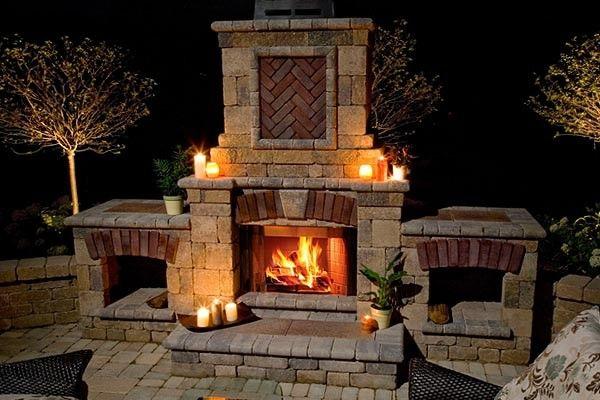 brick stone fireplace how to build an outdoor fireplace brick rh pinterest com