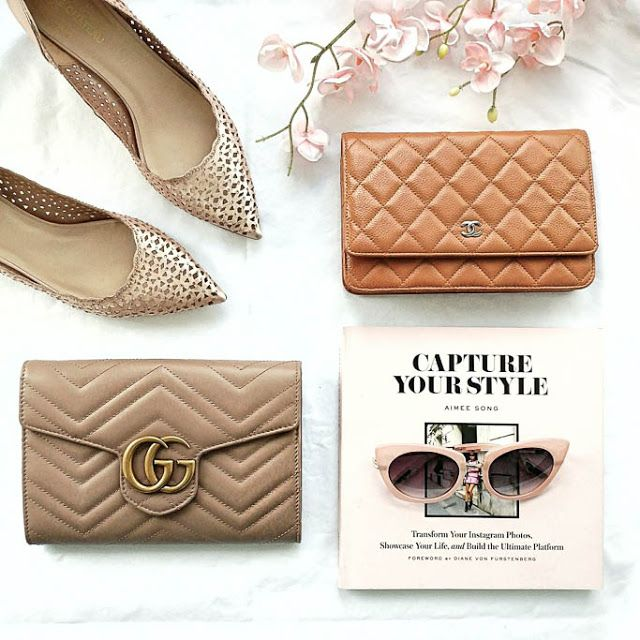 20b651610b2 Comparing a Beige Chanel Caviar Quilted Wallet on a Chain with a Nude Gucci  Marmont Matelasse Mini Bag Wallet on a Chain