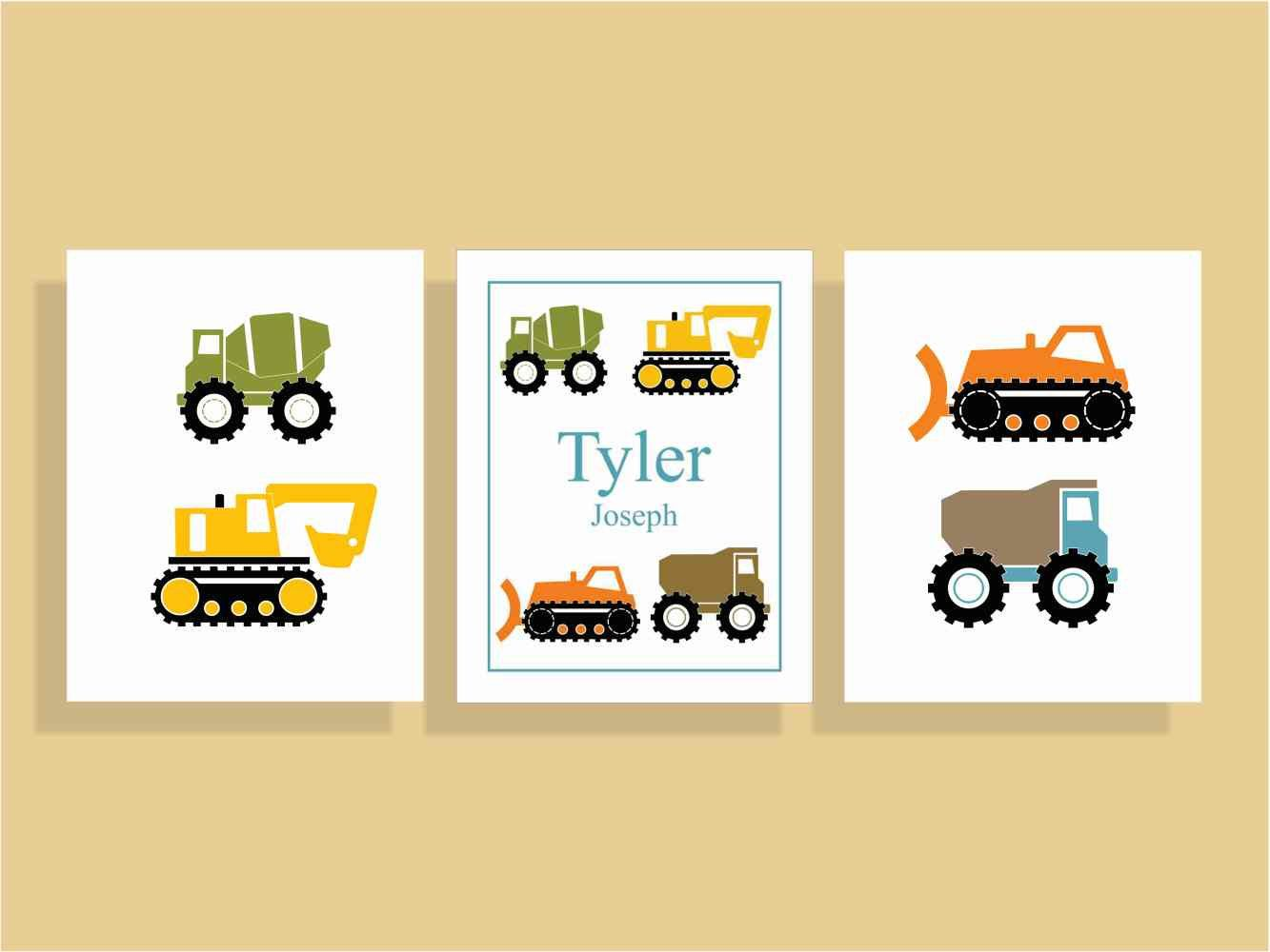 Construction Nursery Decor, Truck Wall Art, Boys Nursery Wall Art ...