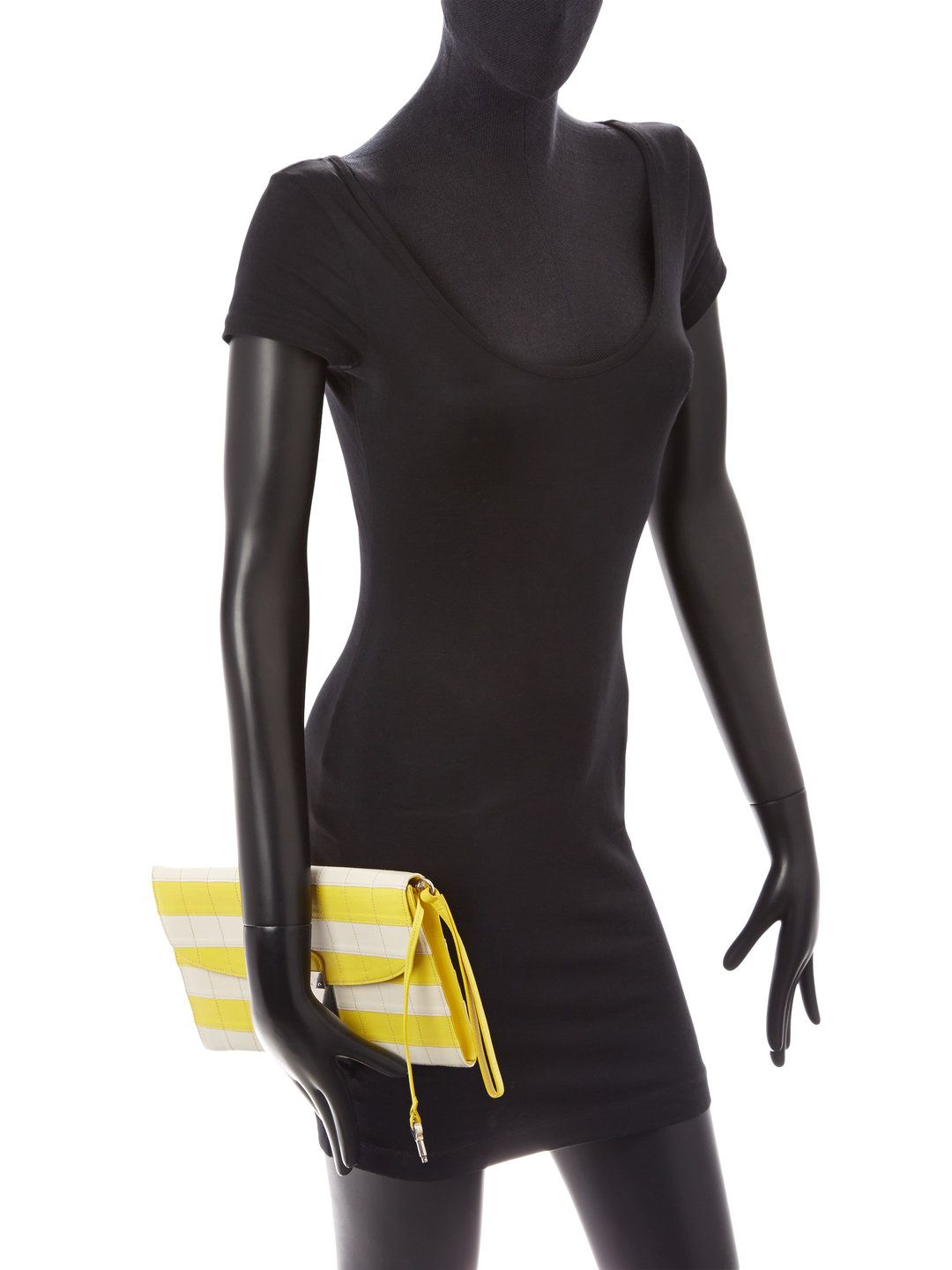 Striped Isobel Leather Wristlet by Marc Jacobs at Gilt