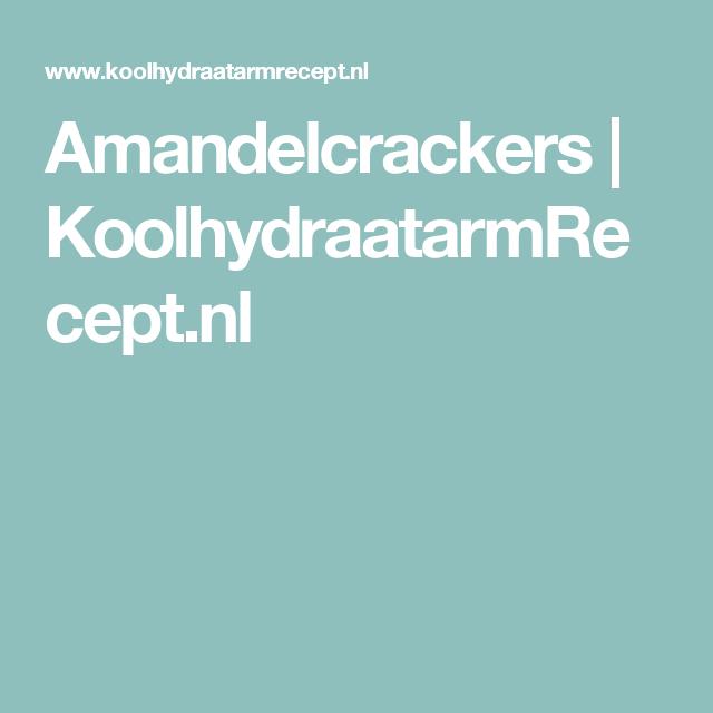 Amandelcrackers | KoolhydraatarmRecept.nl
