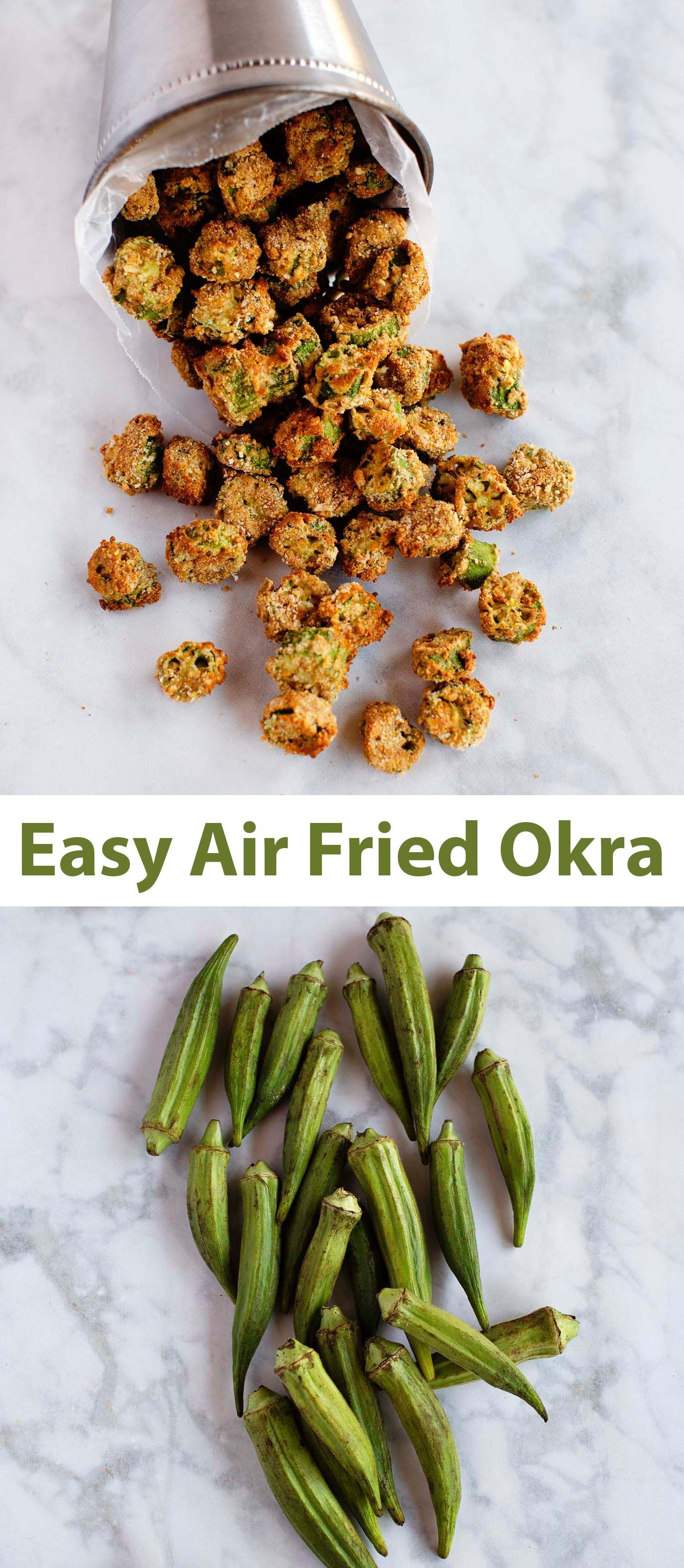 Air Fried Okra Recipe Air fryer dinner recipes, Air