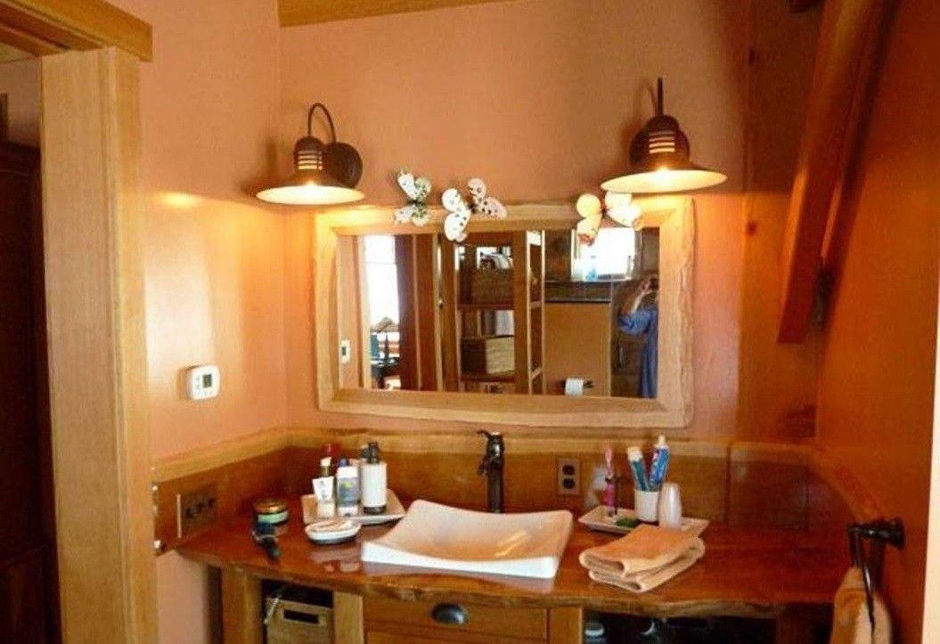 Außergewöhnliche Rustikale Badezimmer Beleuchtung Ideen