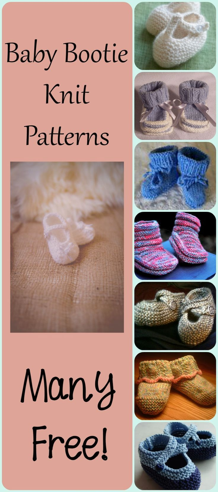 Baby Bootie Knit Patterns - Quick, Cute, Great New Mom Gift Ideas ...