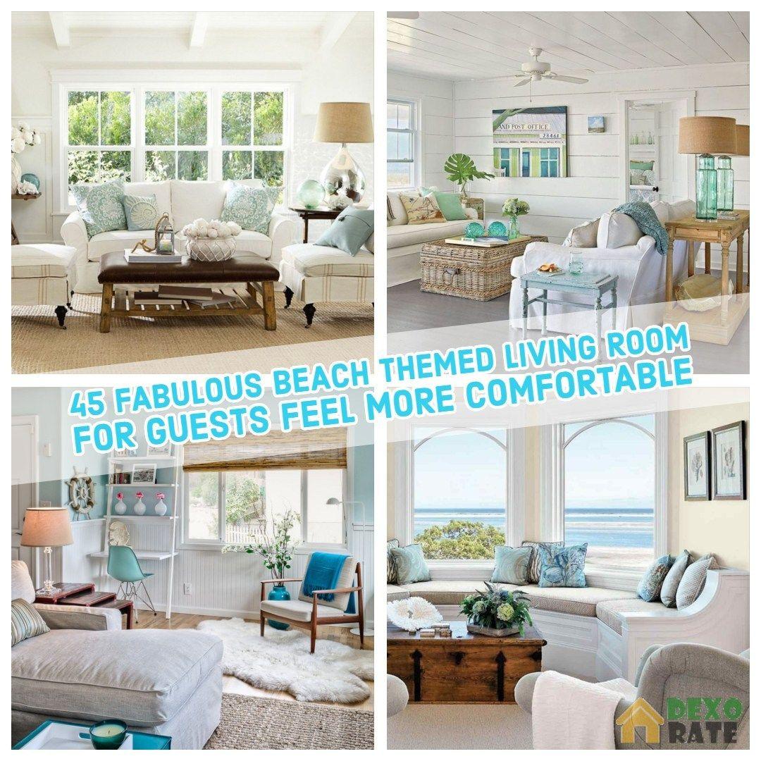 45 fabulous beach themed living room for guests feel more rh pinterest com