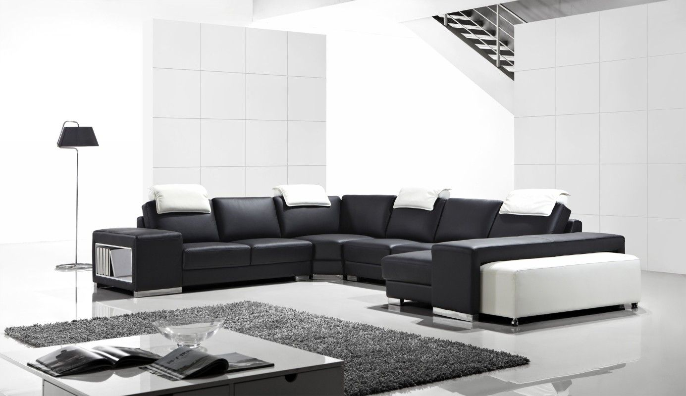 T1000 Modern Leather Sectional Sofa T1000 Modern