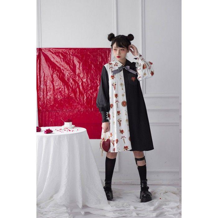 1a9ec27f6304 2019 的  Heart Killer  Long Sleeve One-piece Dress Lolita OP ...