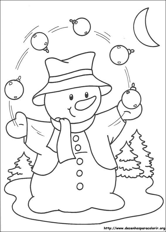 risco de boneco de neve com bolas de natal para pintar | riscos p ...