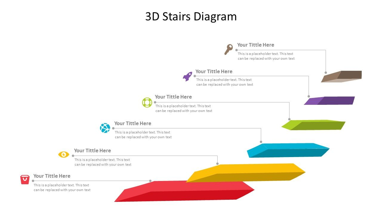 Easy to edit 3D Stairs Diagram for PowerPoint. Related PowerPoint Templates  Flat Stairs PowerPoint Template Stairs PowerPoint Diagram