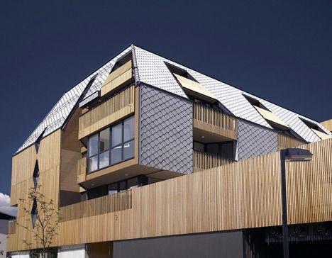 Shopping roof apartments by ofis arhitekti pitched for Ofis arhitekti