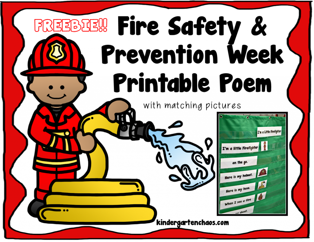 Fire Safety And Prevention Week Activites For Kindergarten