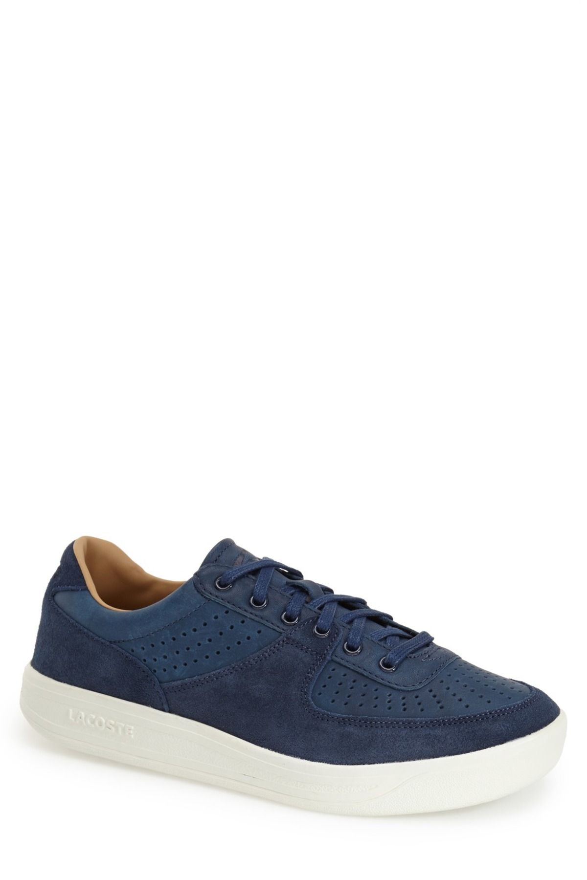 Leather & Suede Lace-Up Sneaker