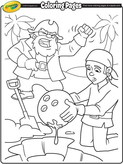 Pirates Digging Up Treasure On Crayola Com Pirate Coloring Pages Crayola Coloring Pages Free Coloring Pages