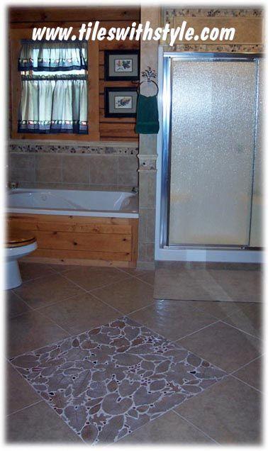 Custom Handmade Decorative Mosaic Shaped Ceramic Floor Leaf