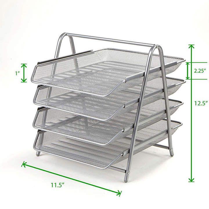 mindreader mind reader 4 tier steel mesh paper tray desk organizer rh pinterest ch