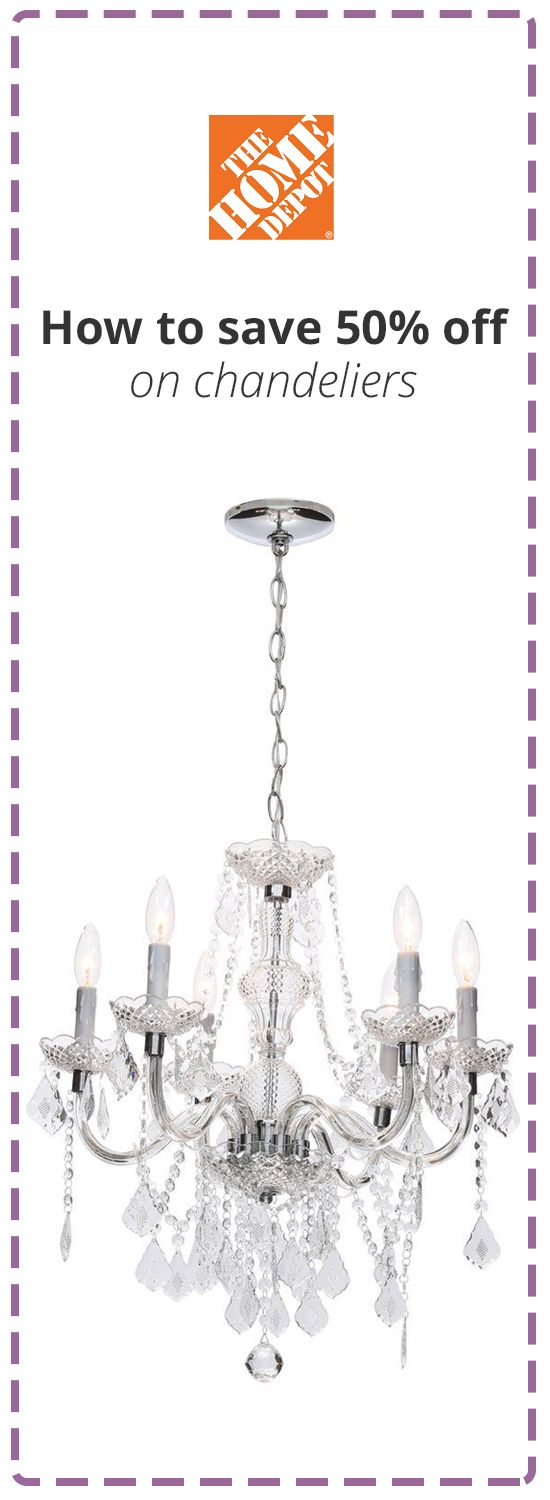 Up To 50% Off Ceiling Lighting U0026 Chandeliers At Home Depot With This Coupon  Code