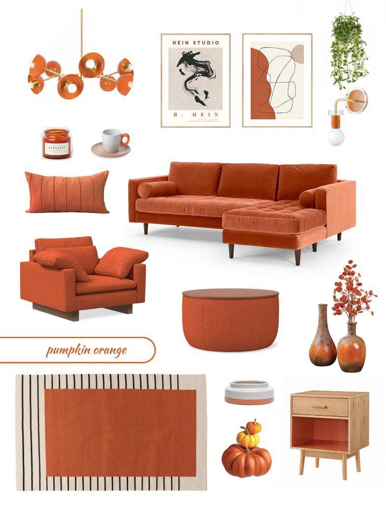 Furniture Trends 2020 2021 The Return Of The Vintage Furniture Trends Orange Home Decor Trending Decor Living room furniture color