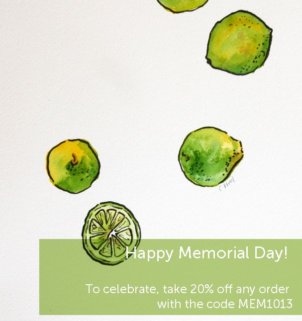 Take 20% off for Memorial Day with the code MEM2013!