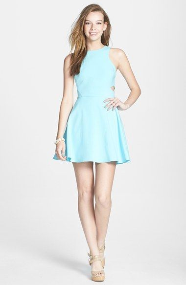 dee elle Side Cutout Skater Dress (Juniors) available at #Nordstrom ...