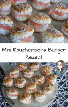 Mini Räucherlachs Burger Rezept - MakeItSweet.de