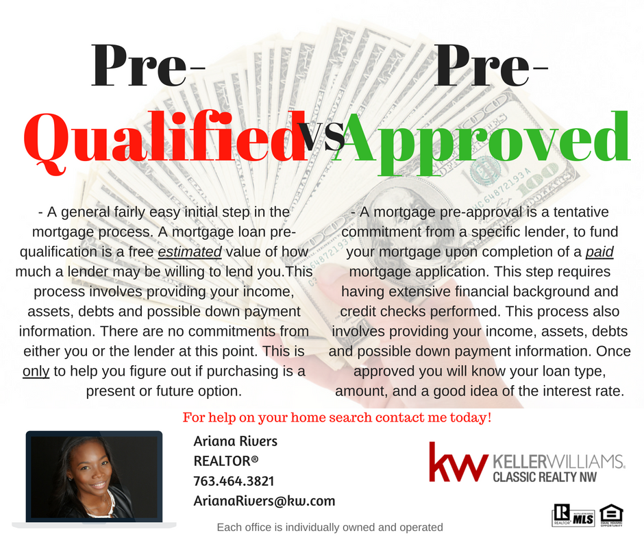 Pre Qualified Vs Pre Approved Learn The Difference Between Being Pre Qualified And Being Pre Approved The Real Estate Tips Mortgage Process Things To Sell