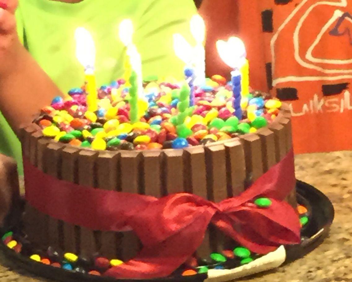 Vons grocery choc cake kitkat wrapped around mms