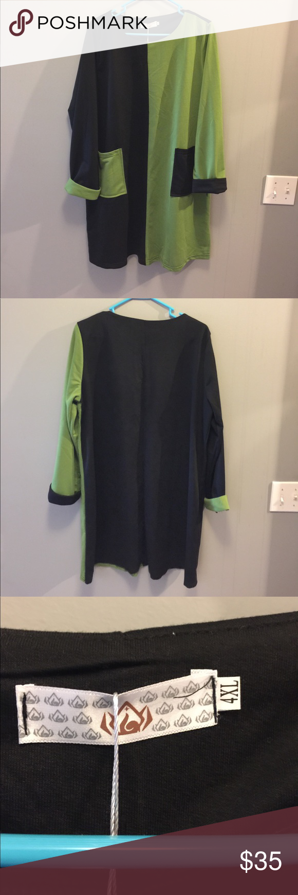 """Tunic dress Sweet tunic """"opposite"""" dress.  Fabric:  Jersey Knit.  Front pockets.   Darling with leggings or boots. huiermei Dresses Long Sleeve"""