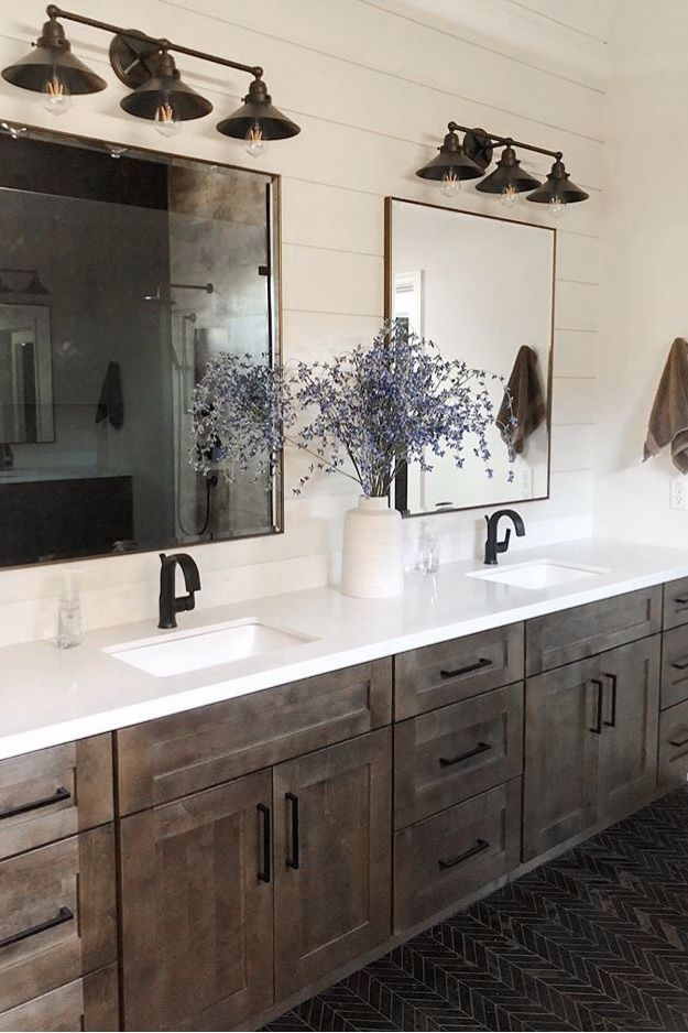 a charming rustic farmhouse bathroom beautifully on custom bathroom vanity plans id=32370