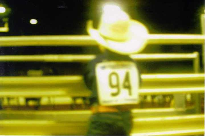 Our son Gus, at Jr rodeo finals
