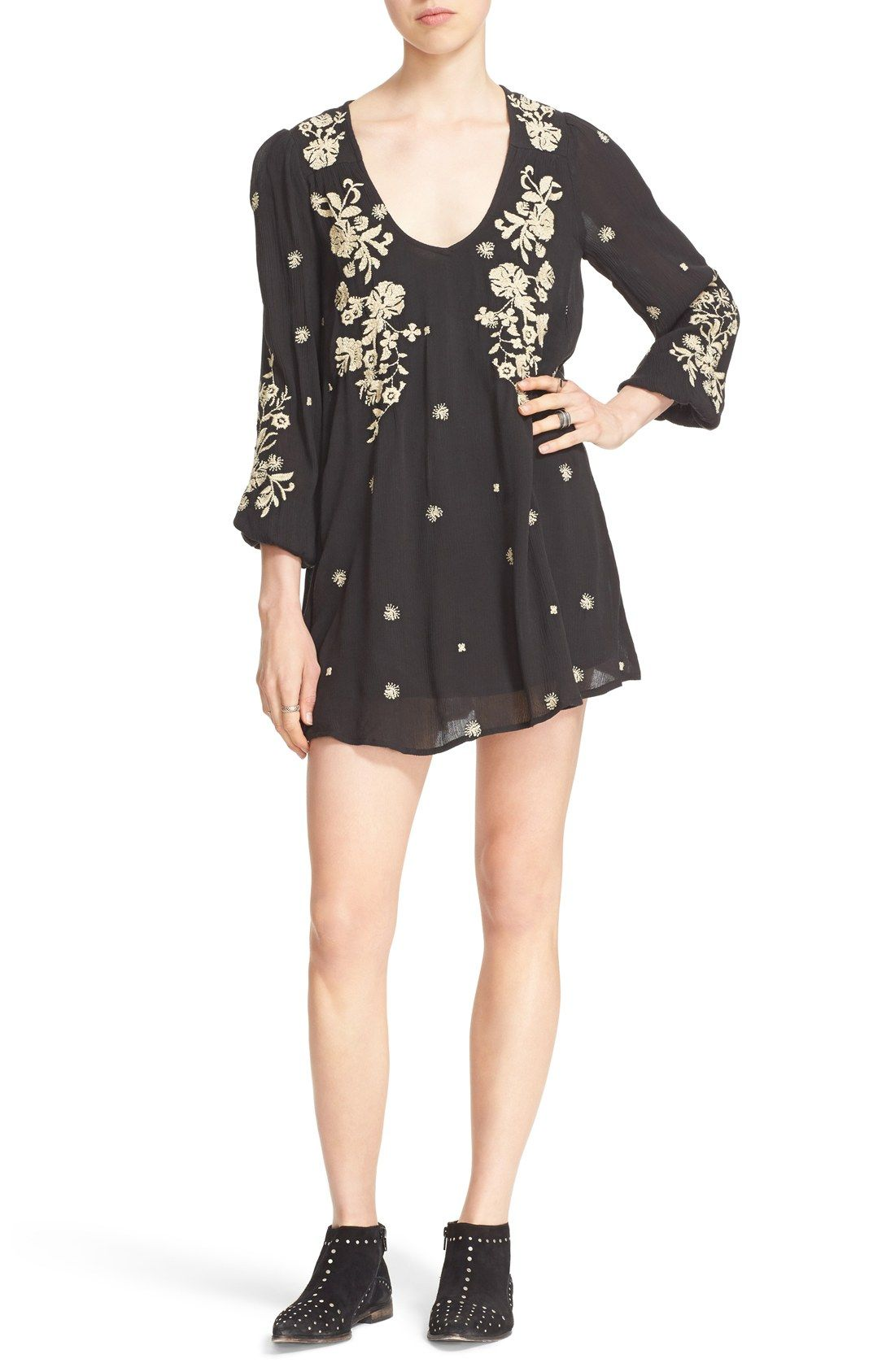 'Sweet Tennessee' Embroidered Minidress