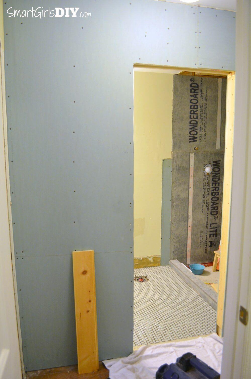 Add Drywall After Installing Pocket Door Tutorial By Smart Girls
