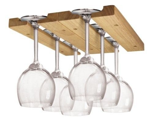 Wood Wine Glass Rack Under Cabinet, Under Cabinet Wine Glass Holder Wood
