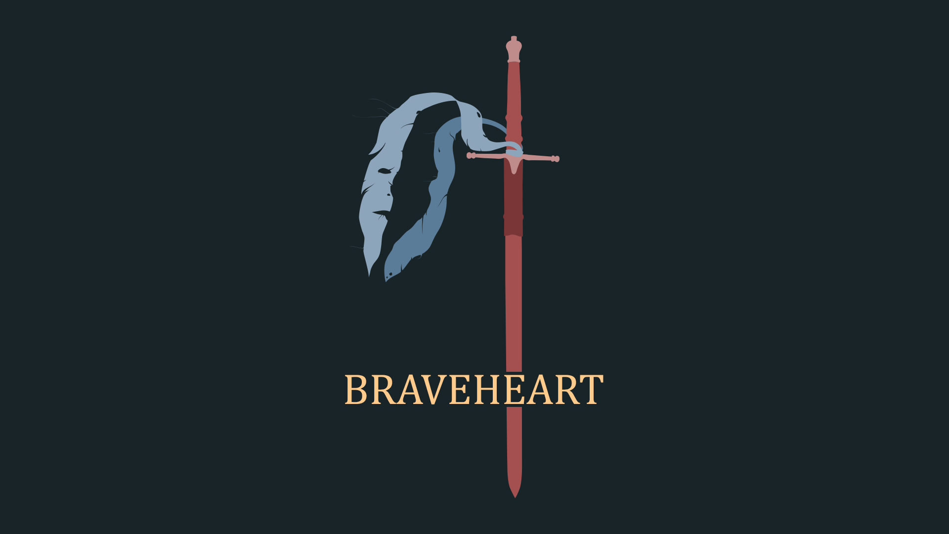 Made A Braveheart Poster And Decided To Make It A Wallpaper As Well Braveheart Wallpaper Movie Wallpapers