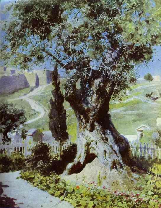 Vasiliy Polenov. An Olive-Tree in the Garden of Gethsemane. 1882 ...