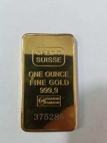 Sale Price 1 Oz Credit Suisse Gold Bar 9999 Fine In Assay Credit Suisse Gold Bar Gold Price Chart