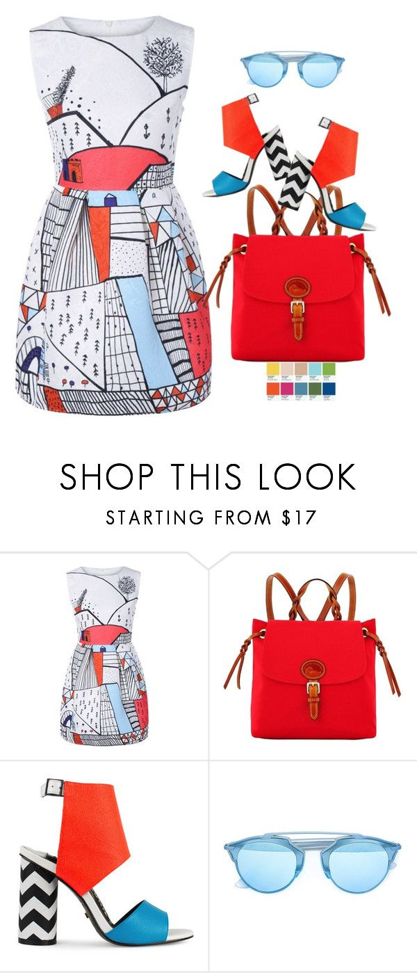 """THE SPRING PANTONE"" by tato-eleni ❤ liked on Polyvore featuring Dooney & Bourke and Kat Maconie"