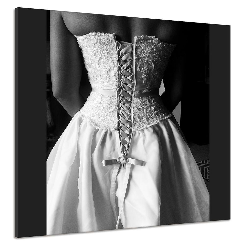 hochzeit kleid braut weiß mode zurück korsett leinwand