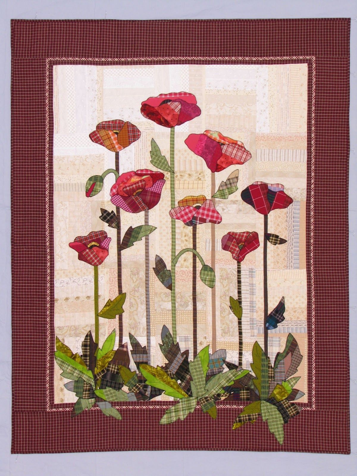 Plaid Poppies Quilt By Elsie M Campbell Workshop Aunt